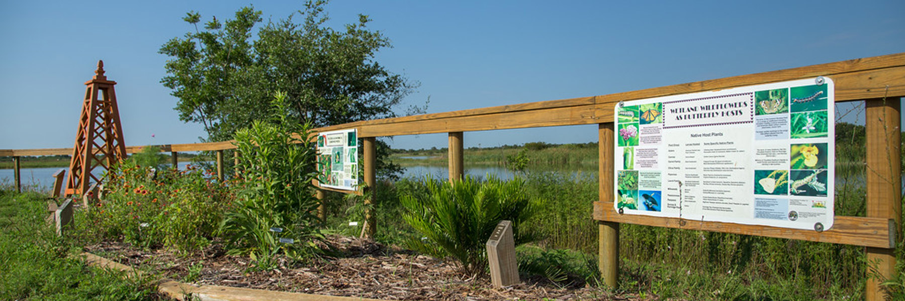 nature park entrance and sign