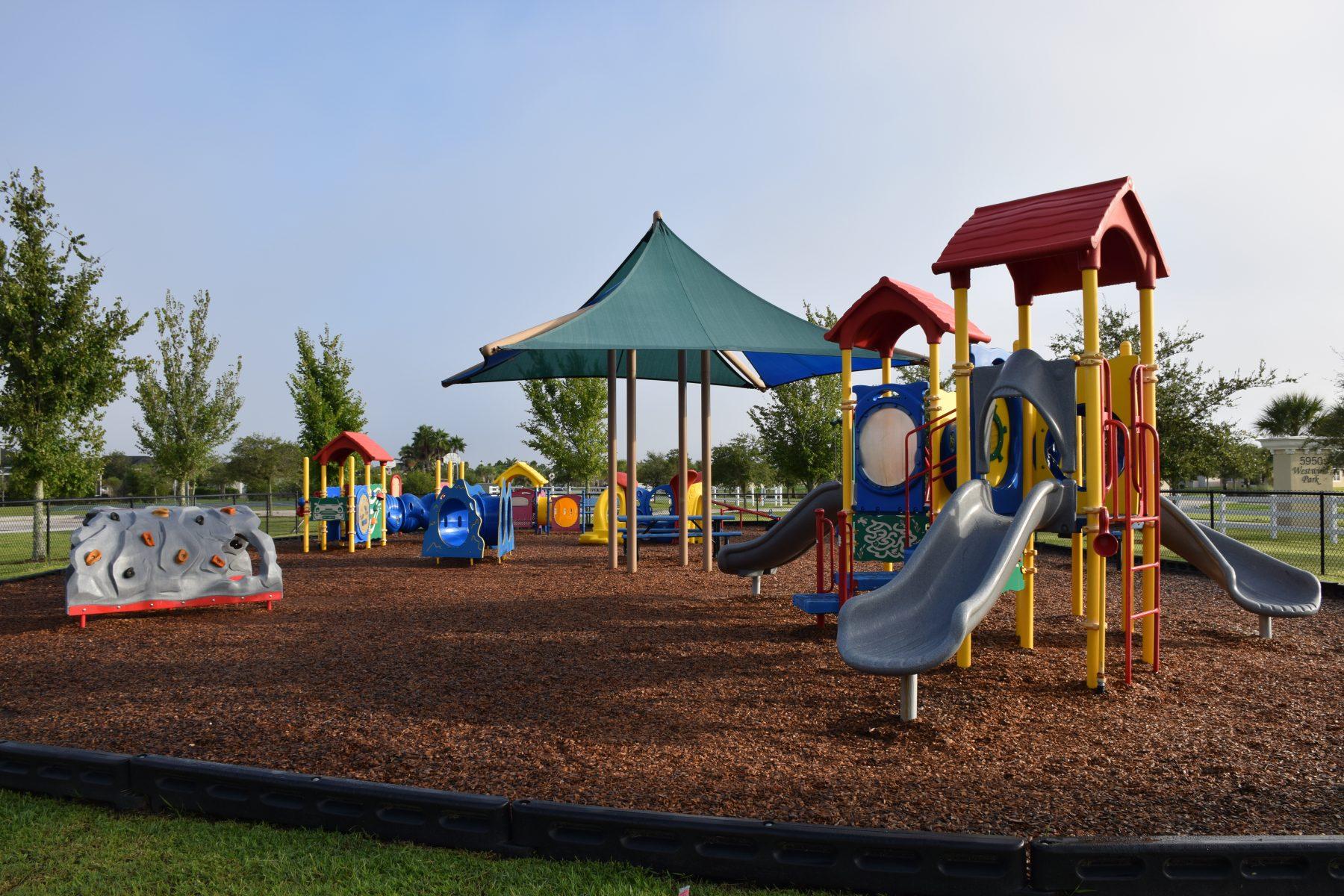 Playground equipment at CVCA parks